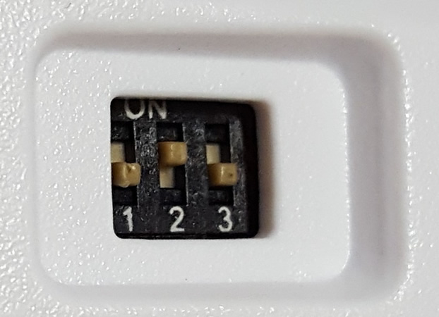 Three DIP switches for key swapping and Windows Key Lock.