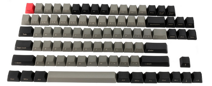 Includes 87-keys for TKL and smaller form factor keyboards