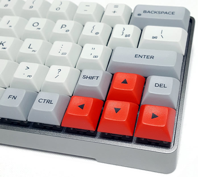 60% form factor with dedicated arrow keys