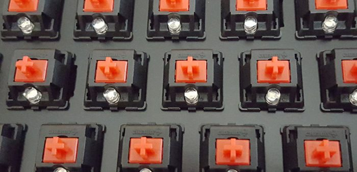 Cherry MX Red linear switches