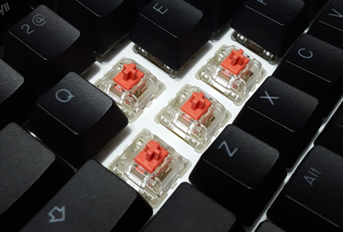 Dampened Cherry MX Silent switches with rubber insert