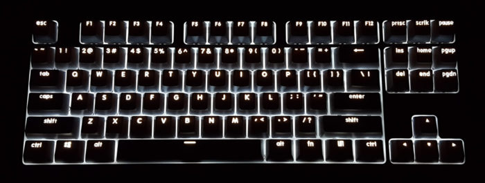 LED backlighting at max brightness in a dark room