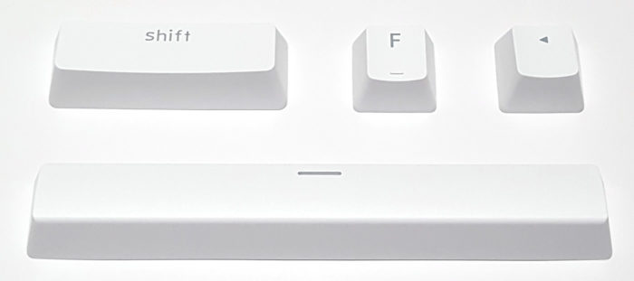 Doubleshot ABS keycaps in OEM profile