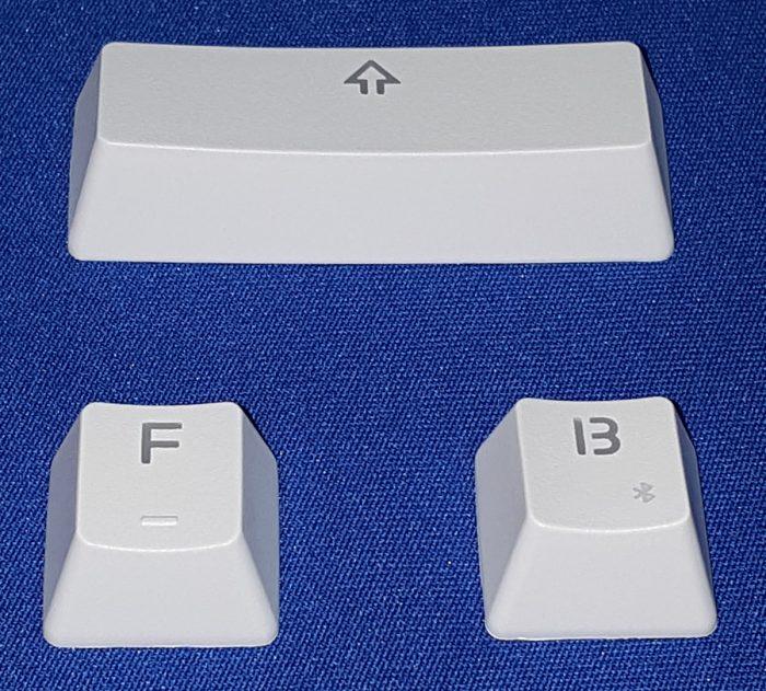 Backlit PBT keycaps with doubleshot legends