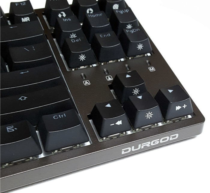Durgod branding on right side of keyboard