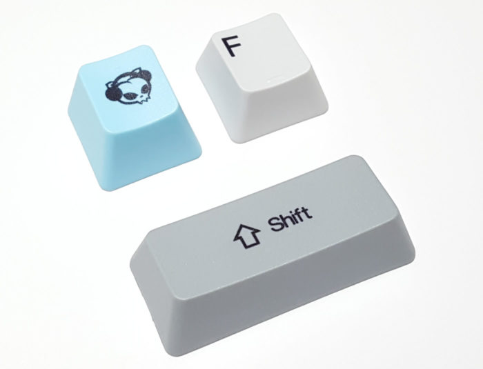 Dye-sublimated PBT keycaps
