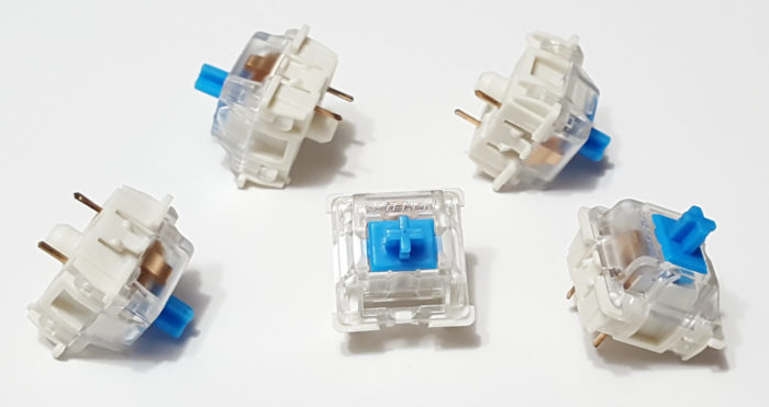 Gateron Blue clicky switches