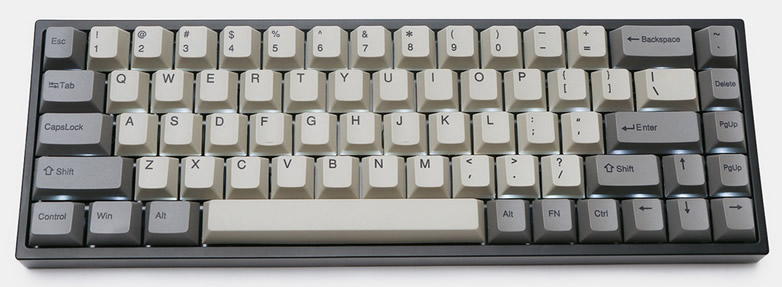 65% mechanical keyboard with wireless connectivity (Bluetooth 4.0) and Cherry MX switches.
