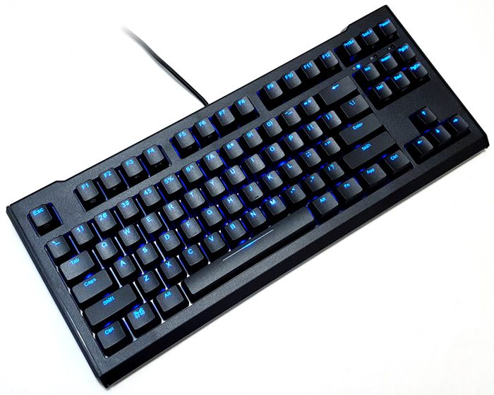 Review of the Max Keyboard Blackbird TKL mechanical keyboard with Cherry MX Red switches and blue LED backlighting