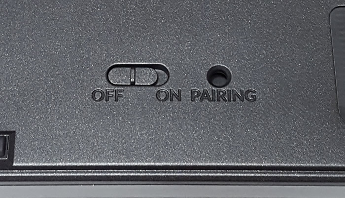 On and off toggle switch to conserve battery life