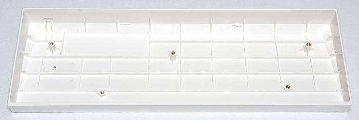 One piece plastic case in white