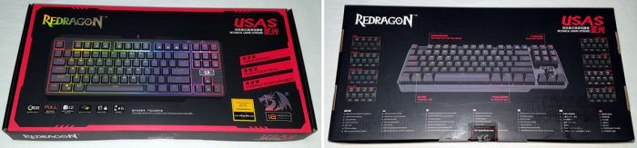 Front and back of Redragon USAS art box.