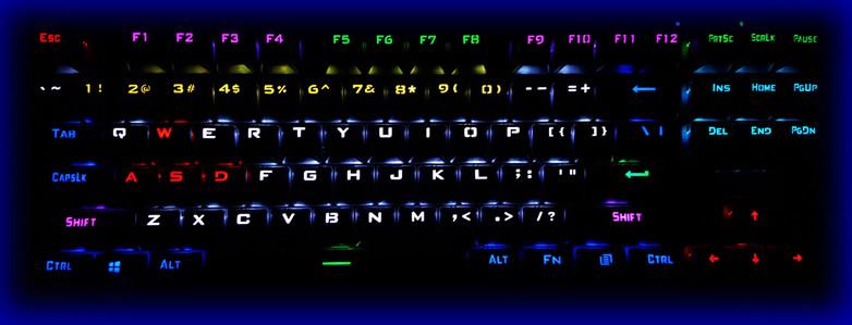 RGB backlighting in the dark