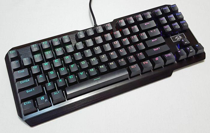 Redragon TKL mechanical gaming keyboard with RGB backlighting
