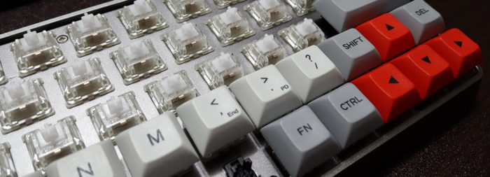 Replaced stock Gateron switches with Cherry MX Nature Whites