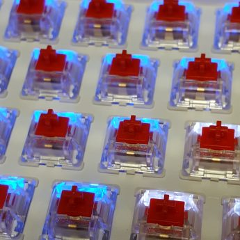 SMD-LED compatible Gateron Red switches