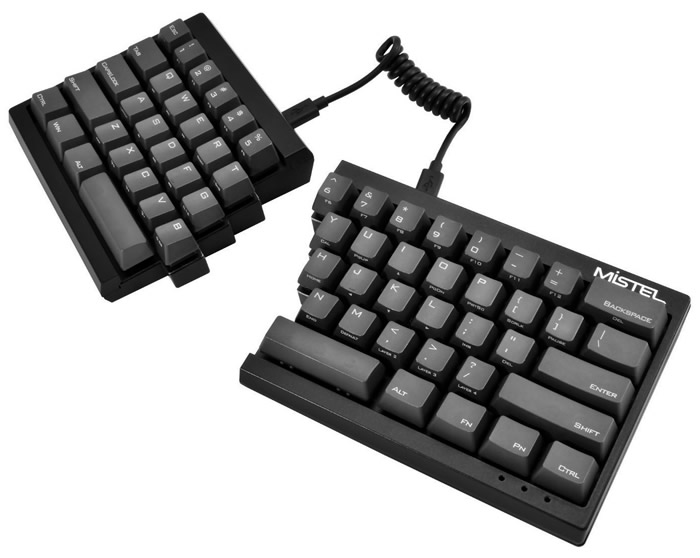 Mistel Barocco: Split-ergonomic programmable mechanical keyboard
