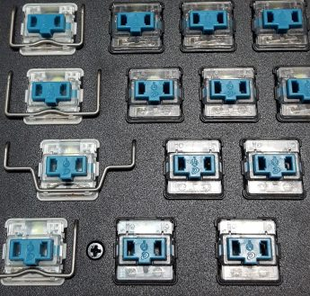 Transparent switch housing tops