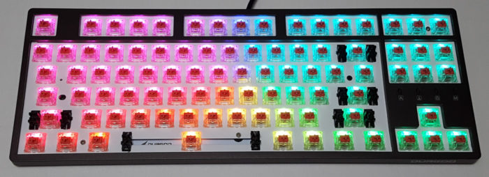 Transparent switch housing for brighter RGB lighting